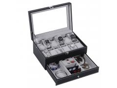 BEWISHOME Watch Box 12 Slots SSH02B